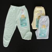 LIBBY 3 Pcs Celana Panjang Tutup Kaki Bayi/Baby Warna (3-6M)