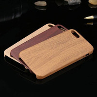 Jual iphone 5/5s/6/6s/6s+/7/7+ wood case ultra thin soft case Murah