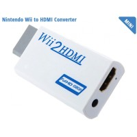 Video Konverter Nintendo Wii ke HDMI dengan 3.5mm Port - White