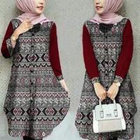 Jual Baju Wanita / Pakaian Cewek / Perempuan Tunik Full batik G-346 Murah