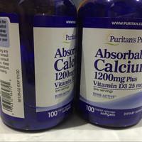 PURITAN Absorbable Calcium 1200 mg + Vit D3 1000 IU | 100SG