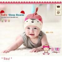 Jual Topi Kupluk Bayi Korea Bear Red Murah