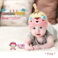 Jual Topi Kupluk Bayi Korea Bear Pink Murah