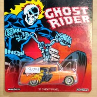 HOT WHEELS '55 CHEVY PANEL ORANGE MARVEL GHOST RIDER 2016 #4/6