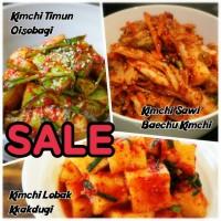 Fresh Korean Kimchi Mix (sawi. lobak. timun) per 100g HALAL