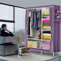 [SALUR] 07 New Multifunction Wardrobe with cover Rak lemari pakaian