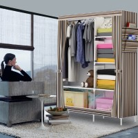 07 [SALUR] New Multifunction Wardrobe with cover Rak lemari pakaian
