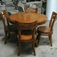 Kursi Meja Makan Tamu Cafe Minimalis Asli Furniture Jepara