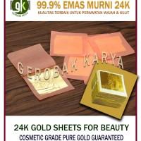 EMAS MURNI 24 KARAT | PURE GOLD SHEETS COSMETIC GRADE | isi 3 lembar