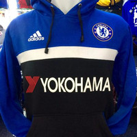 Jual hoodie chelsea biru hitam yokohama Murah