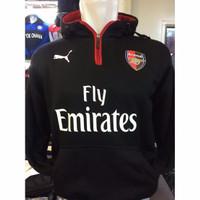 Jual Arsenal Half Zipper Black Murah
