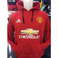 Jual Hoodie Manchester United Full Merah Murah