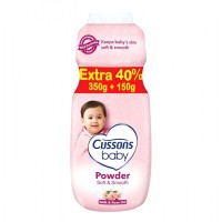 Cussons Baby Powder Soft Smooth Milk Rose Oil Pink 350 + 150 gr