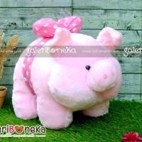 Jual Boneka Babi Piggy Pita Pink ( HK - 191533 ) Berkualitas Murah