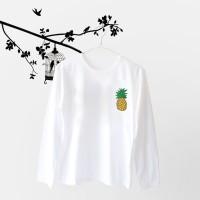 Jual Tumblr Tee / T-Shirt / Kaos Wanita Lengan Panjang Pineapple Murah
