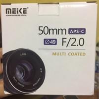 Jual Lensa Meike MK-E-50-2.0 F2 prime lens fix APS-C Murah