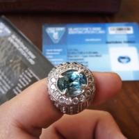 Jual batu permata natural swiss blue topaz / bukan akik / permata gemstone Murah