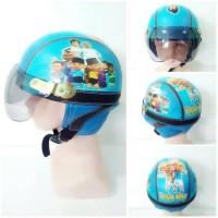 Helm Karakter Upin Ipin Gambar Printing utk Anak 1-4 th