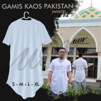 Gamis Pakistan Pria Bahan Kaos Bisa jadi Baju koko atau Baju Takwa