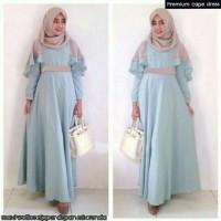 Jual HV466 Dress murah premium cape KODE BIS520 Murah