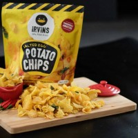 Jual irvins salted egg potato chips 100gr small Murah