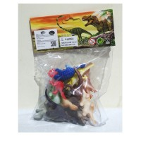 Jual KP3771 Mainan dinosaurus karet kecil dinosaurs worl KODE TYR3827 Murah