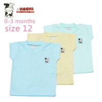 Hachi Baby Wear Short Sleeves T-Shirts Color Isi 3 Pcs
