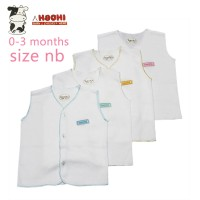 Hachi Baby Wear Clothes Sleeveless White Isi 4 Pcs