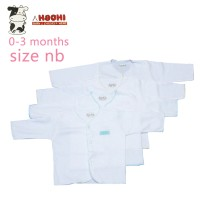 Hachi Baby Wear Clothes Long Sleeves White Isi 4 Pcs