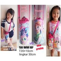 Jual Tas Slempang Botol Air Karakter Putri (Tsum Tsum, Frozen, Little Pony) Murah