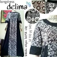 Jual Promo longdress gamis tali 4 delima batik cap Murah