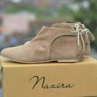 Jual Nazira Boots Ballets Women Creem Suede Murah