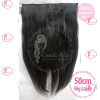 50cm hair extension hairclip human hair /rambut sambung asli big layer