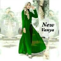 set st setelan hijab maxi vanya sale long cardi muslim wanita