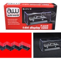 4 INDIVIDUAL DISPLAY SHOW CASES FOR 1/64 SCALE MODEL CARS BY AUTOWORLD