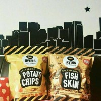 Jual IRVIN SALTED FISH SKIN & POTATO CHIPS 105 GR Murah