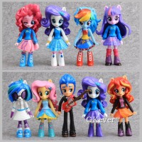 Action Figure / Miniatur My Little Pony Equestria Girl set isi 9