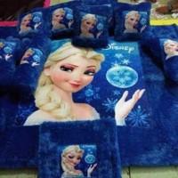 Jual karpet bulu rasfur full set printing KARAKTER FROZEN Murah