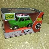 diecast classical car mobil mr bean bendera inggris skala 1 /38