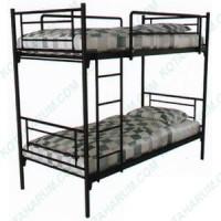 Ranjang bed besi susun tingkat orbitrend d-square hitam no 4 single 90