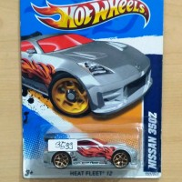 HOT WHEELS NISSAN 350Z GREY HEAT FLEET 2012 #157/247 - R1