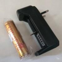 Baterai 18650 Ultrafire + Charger