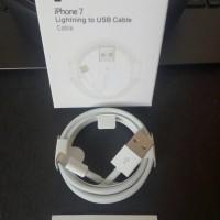Jual KABEL DATA LIGHTNING USB CABLE IPHONE 7 6 5 ORI 100% ORIGINAL Murah