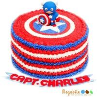 Jual custom cake kue ulang tahun captain america Murah