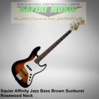 Squier Affinity Jazz Bass RW Brown Sunburst baru dan original