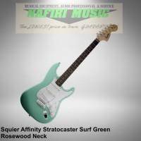 harga Gitar Squier Affinity Stratocaster Rw Surf Green Baru Dan Original Tokopedia.com