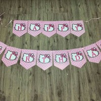 Jual banner flag hello kitty Murah