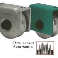 Roda Pagar Besi Model U Size 60mm - Wipro RPB-01