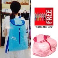 Jual Trend's Tas Ransel Besar Backpack Waterproof Pink - Gratis Tongsis Min Murah