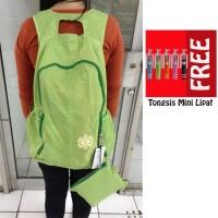 Jual Trend's Tas Ransel Waterproof Backpack - Hijau + Gratis Tongsis Mini Murah